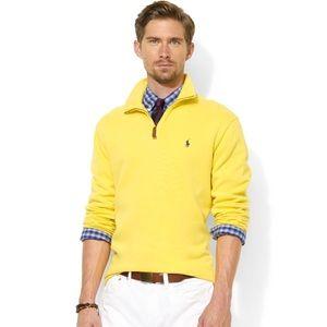 Polo by Ralph Lauren Half Zip Yellow Pullover